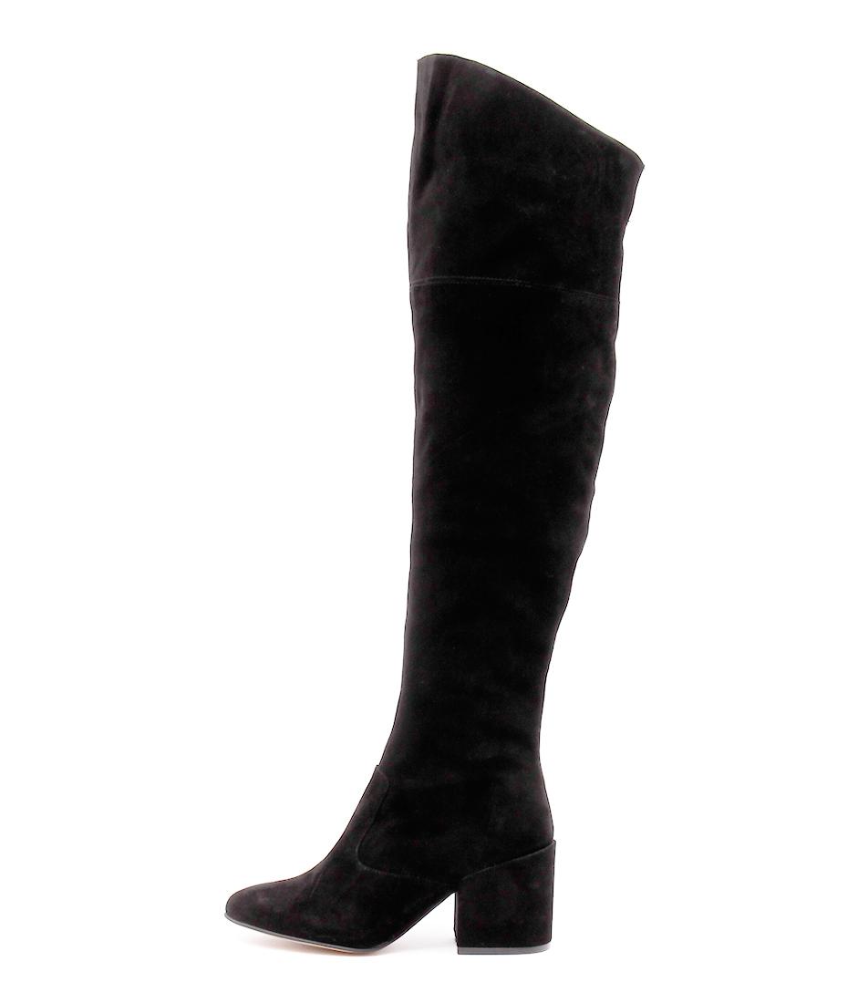 Siren Paige Black Dress Long Boots