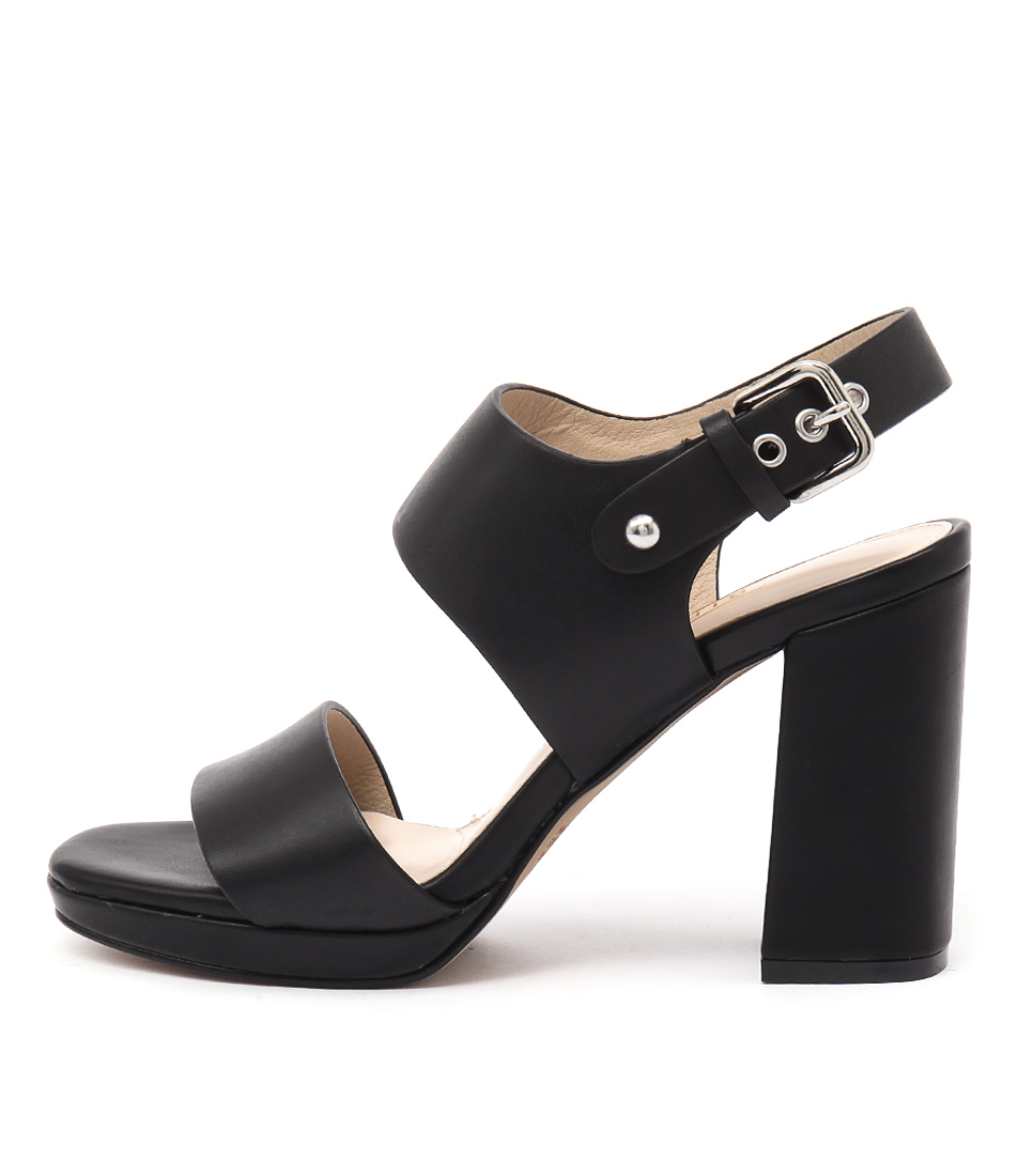Siren Famous Black Heeled Sandals
