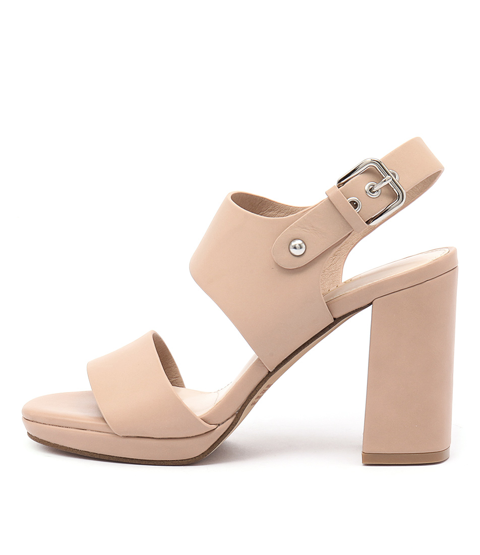 Siren Famous Camel Dress Heeled Sandals
