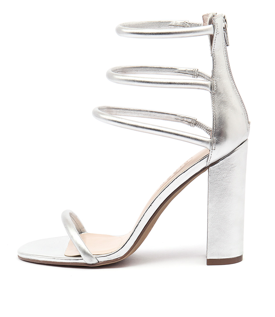 Photo of Siren Karlie Si Silver Sandals, shop Siren heels online