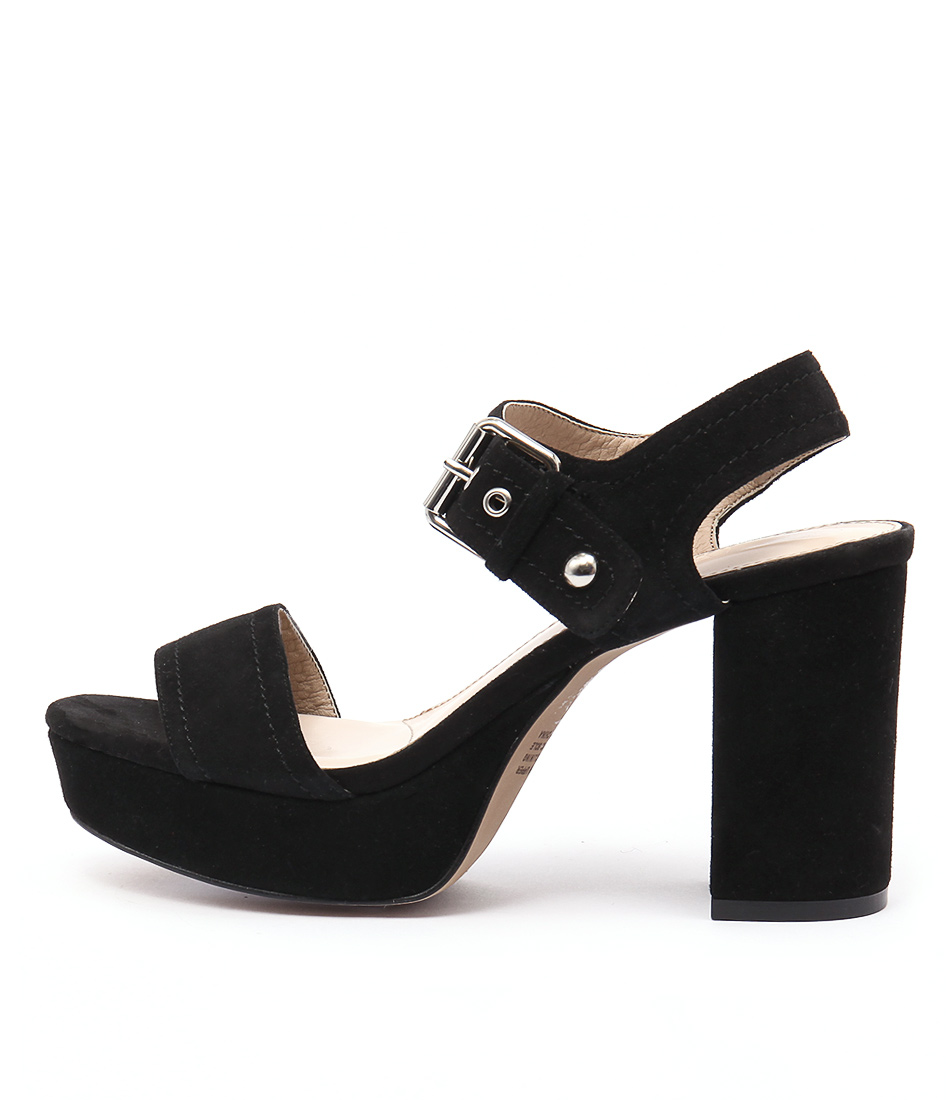 Siren Montana Black Heeled Sandals