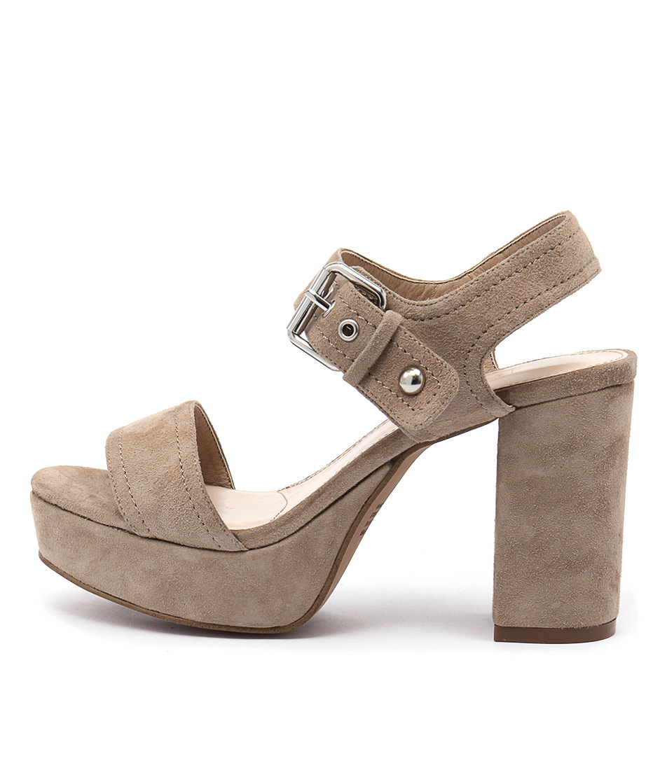 Siren Montana Sand Casual Heeled Sandals