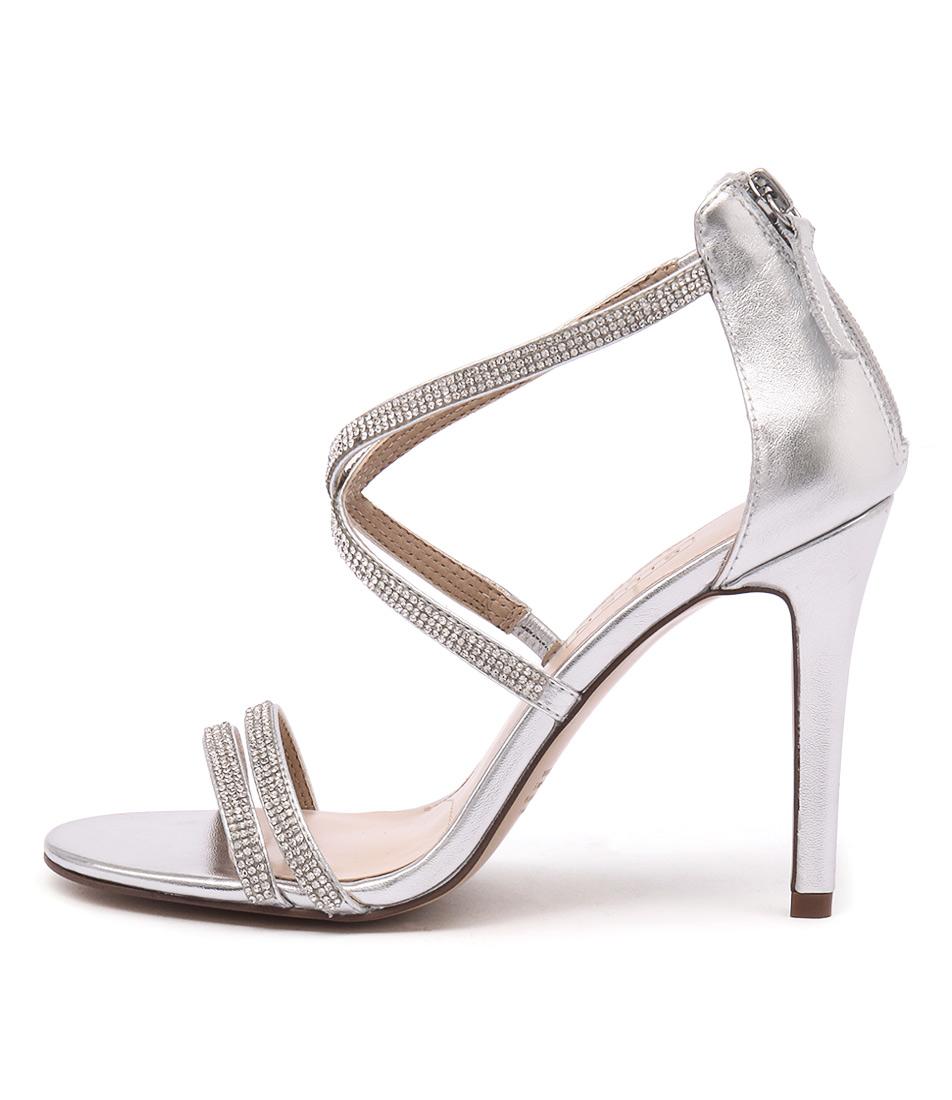 Siren Geo Si Silver Heeled Sandals