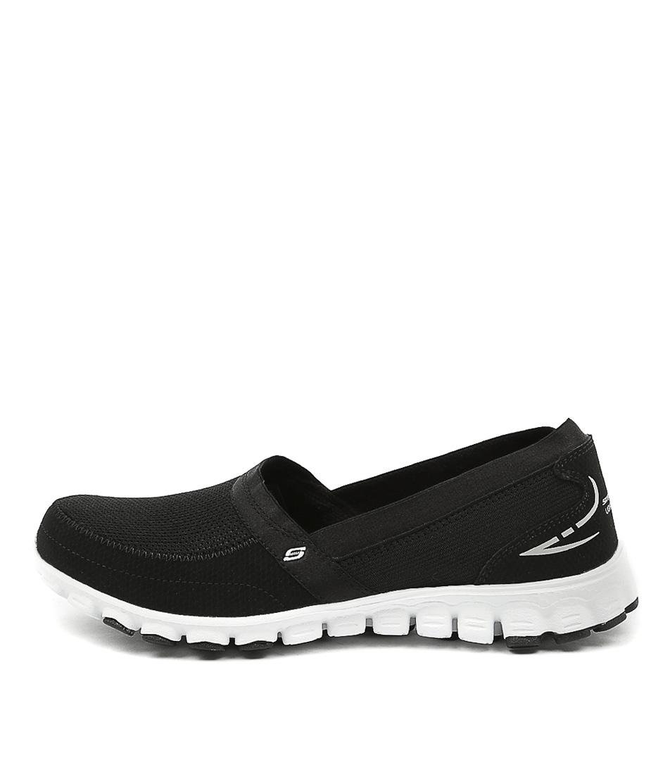 Skechers 22258 Ez Flex Black White Sneakers