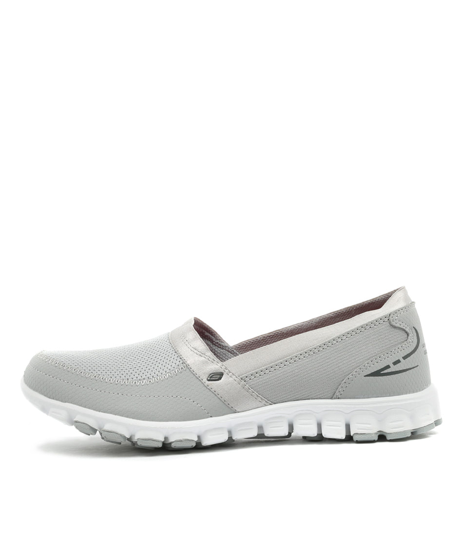 Skechers 22258 Ez Flex Grey White Sneakers