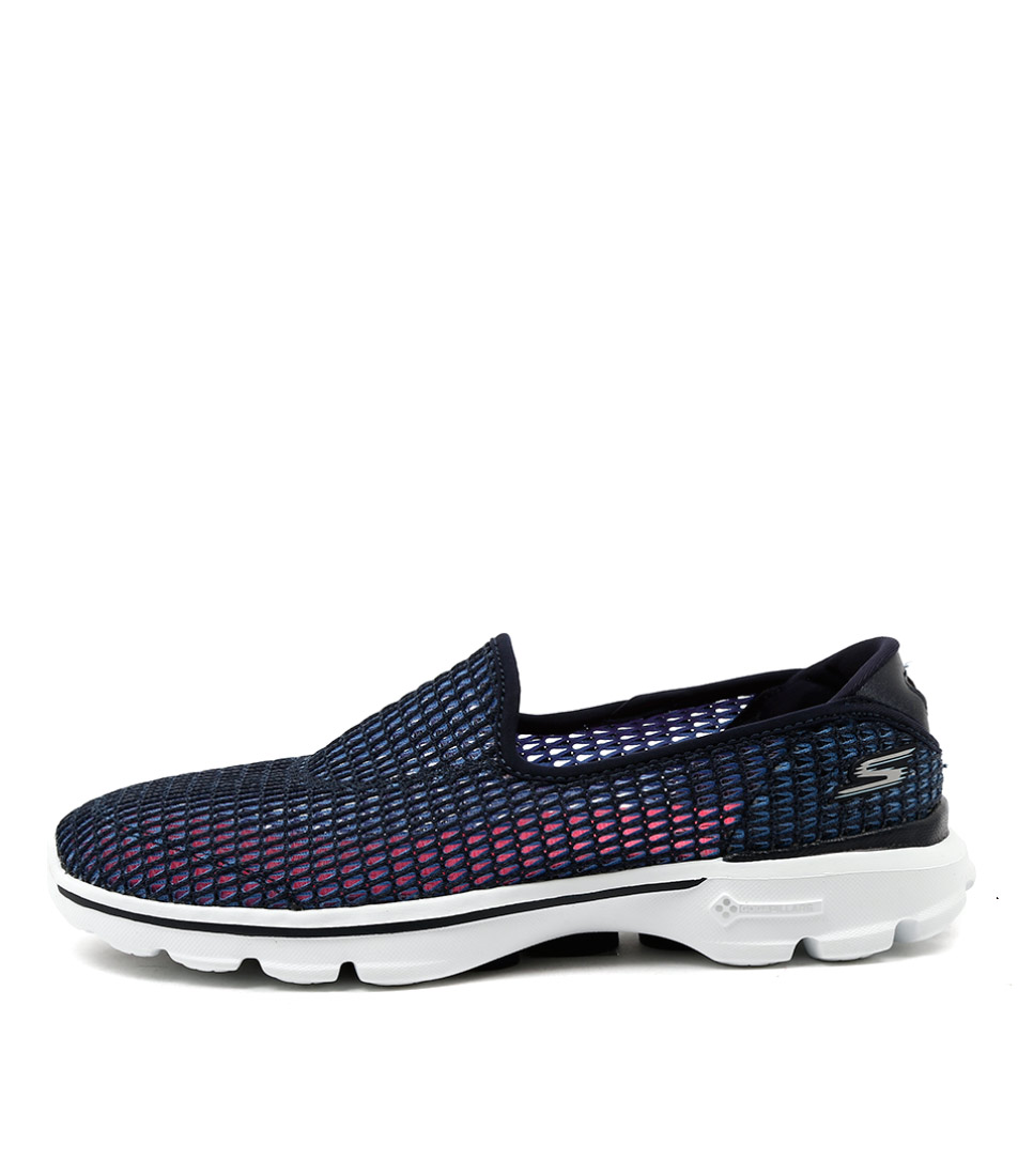 Skechers 14054 Go Walk 3 Superbreath 2 Navy White Sneakers