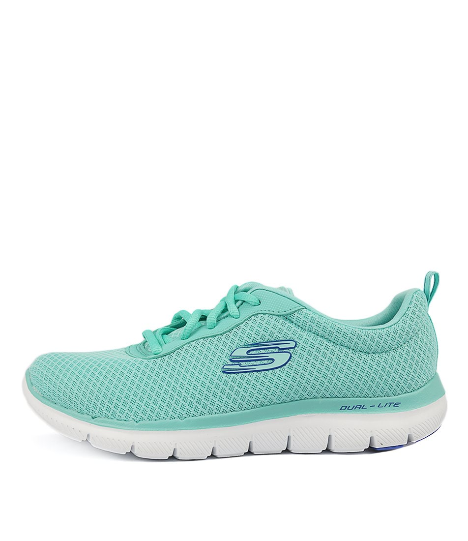 Skechers 12775 Flex Appeal Newsmaker Turquoise Sneakers