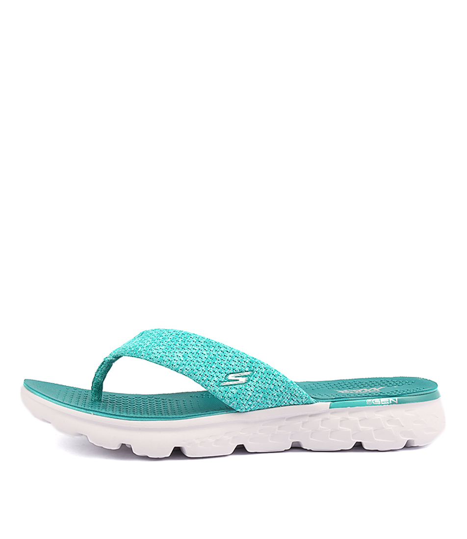 Skechers 14656 On The Go Vivacity Teal Casual Flat Sandals