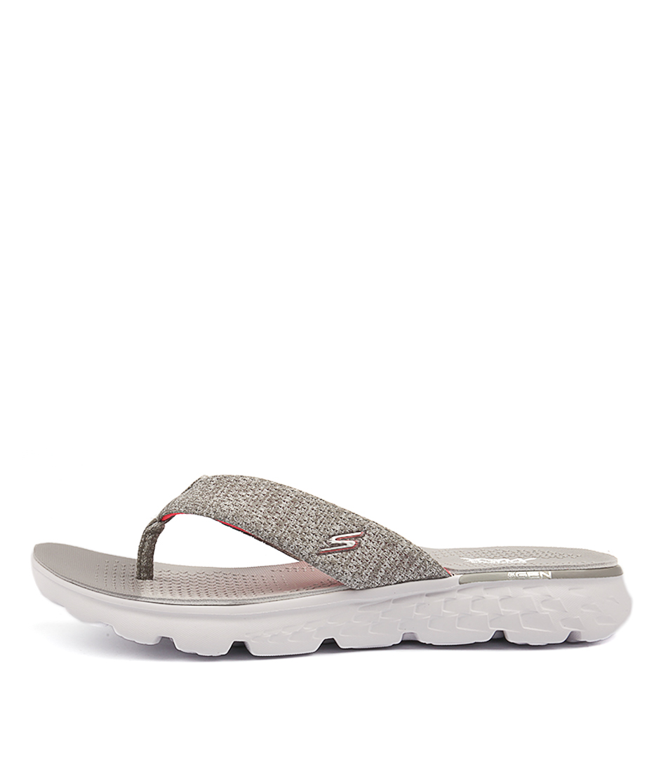 Skechers 14656 On The Go Vivacity Grey Pink Casual Flat Sandals