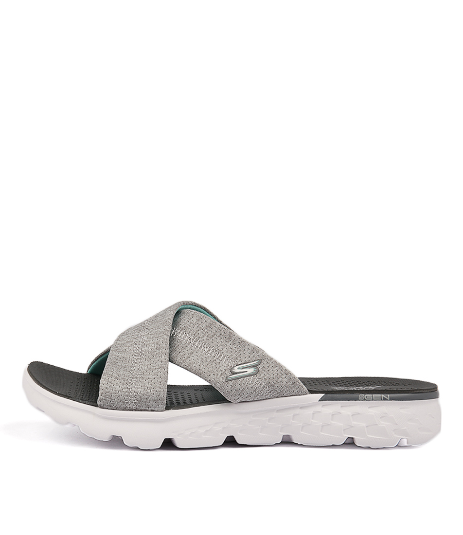 Skechers 14665 On The Go 400 Blissful Grey Flat Sandals