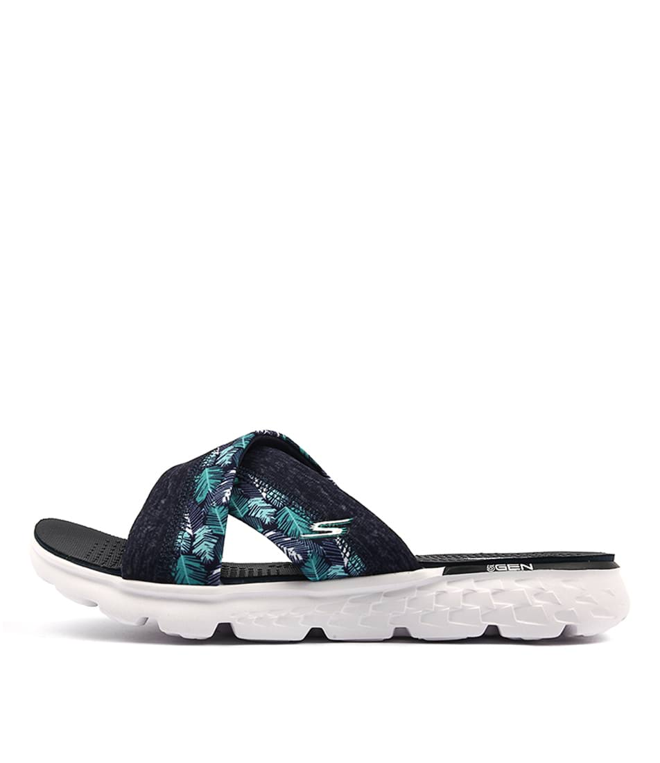 Buy Skechers 14667 On The Go Tropical Navy Flat Sandals online with free shipping
