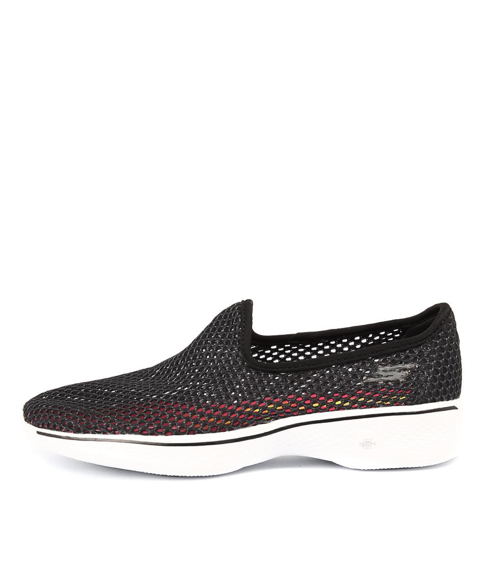 Skechers 14905 Go Walk 4 Atmosphere Black White Sneakers