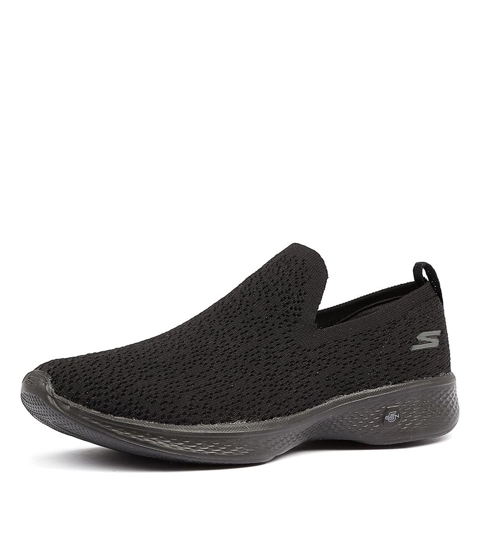 Skechers 14918 Go Walk 4 Gifted Black Sneakers
