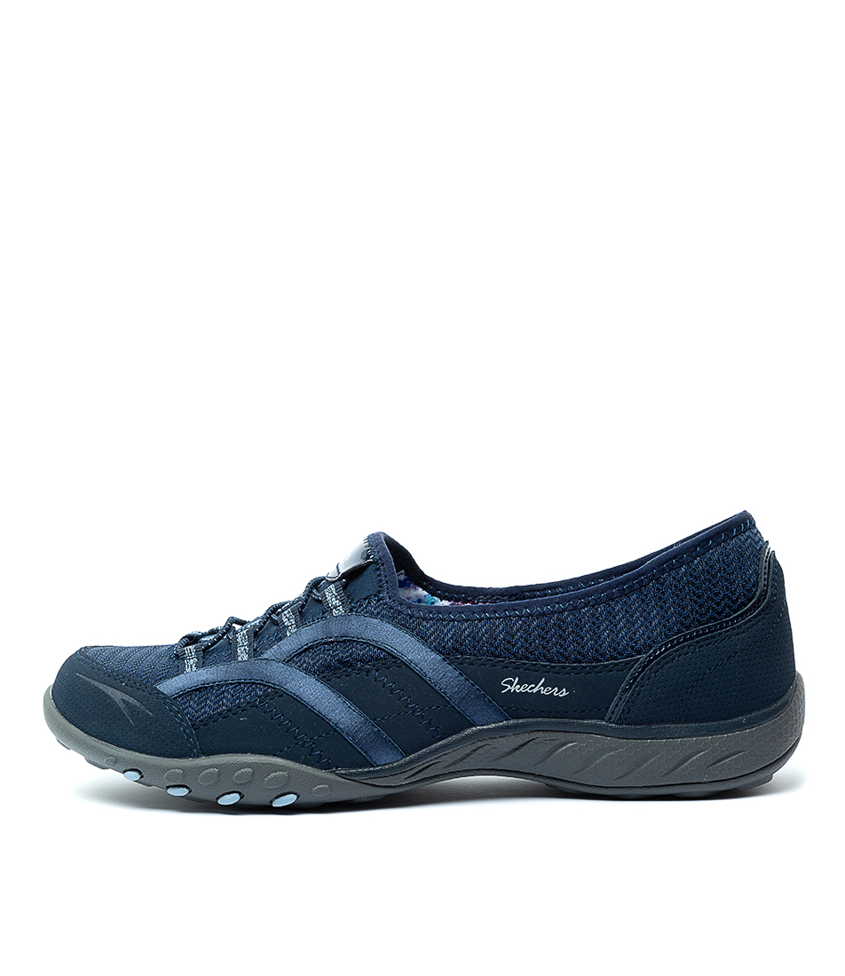 Buy Skechers 23030 Breathe Easy Faithful Navy Sneakers online with free shipping