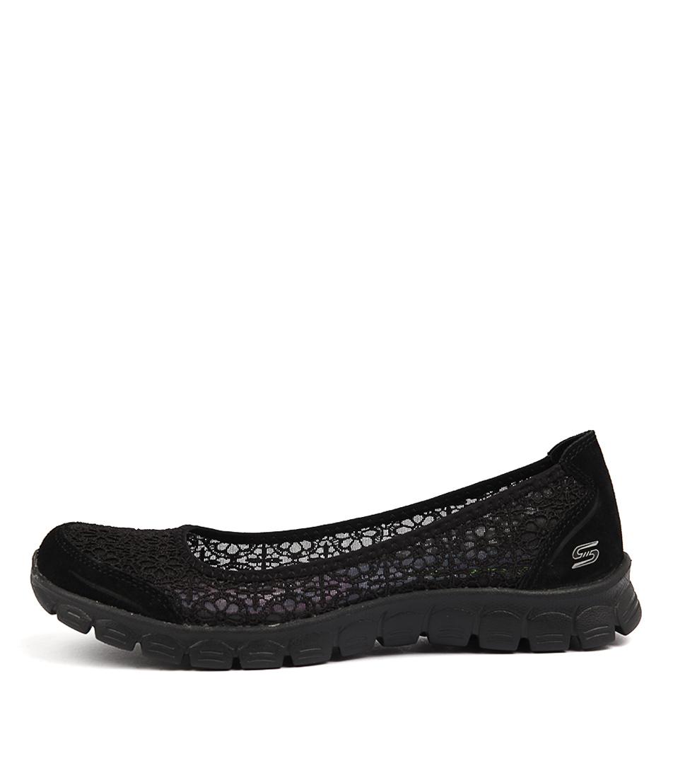 Skechers 23413 Ez Flex Majesty Black Active Flat Shoes