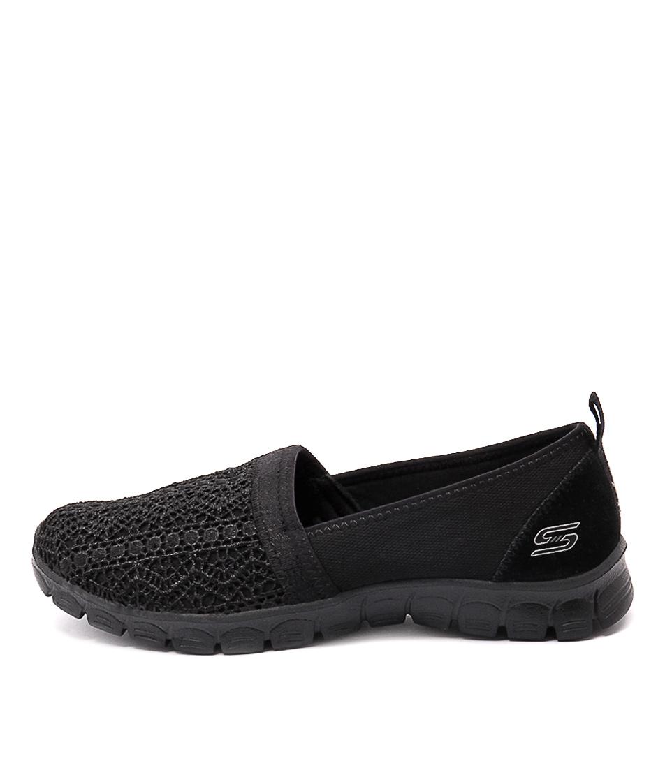 buy Skechers 23422 Ezflex 3.0 Duchess Black Active Flat Shoes shop Skechers Flats online
