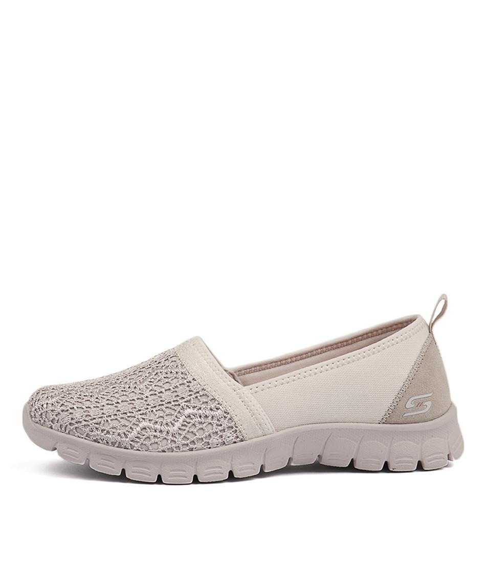 Skechers 23422 Ezflex 3.0 Duchess Natural Active Flat Shoes
