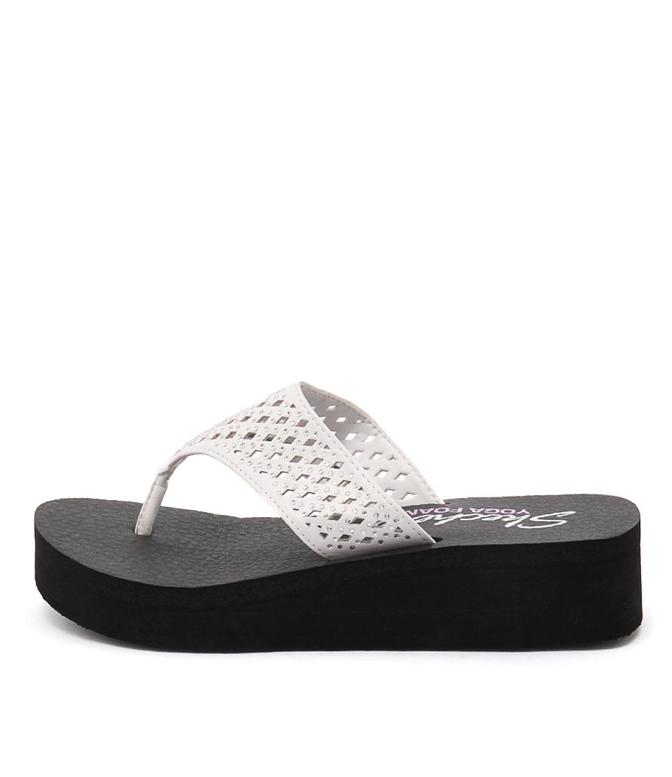 Skechers 38648 Vinyasa Flow White Sandals
