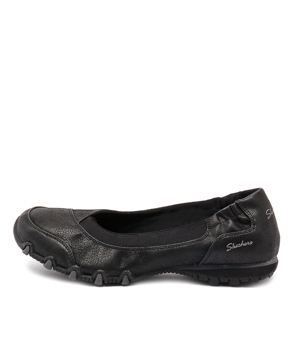 Skechers 49406 Bikers Peyote Black Active Flat Shoes