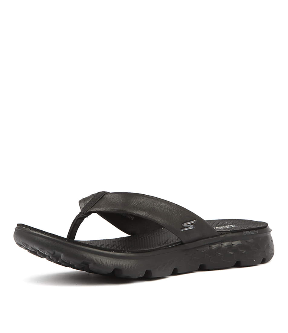 7da10909ad4a Skechers on The Go 400 Essence Flip Flops Womens Memory Foam Sandals Uk3-8  Uk5 - Eu38 Black. About this product. Picture 1 of 6  Picture 2 of 6   Picture 3 ...
