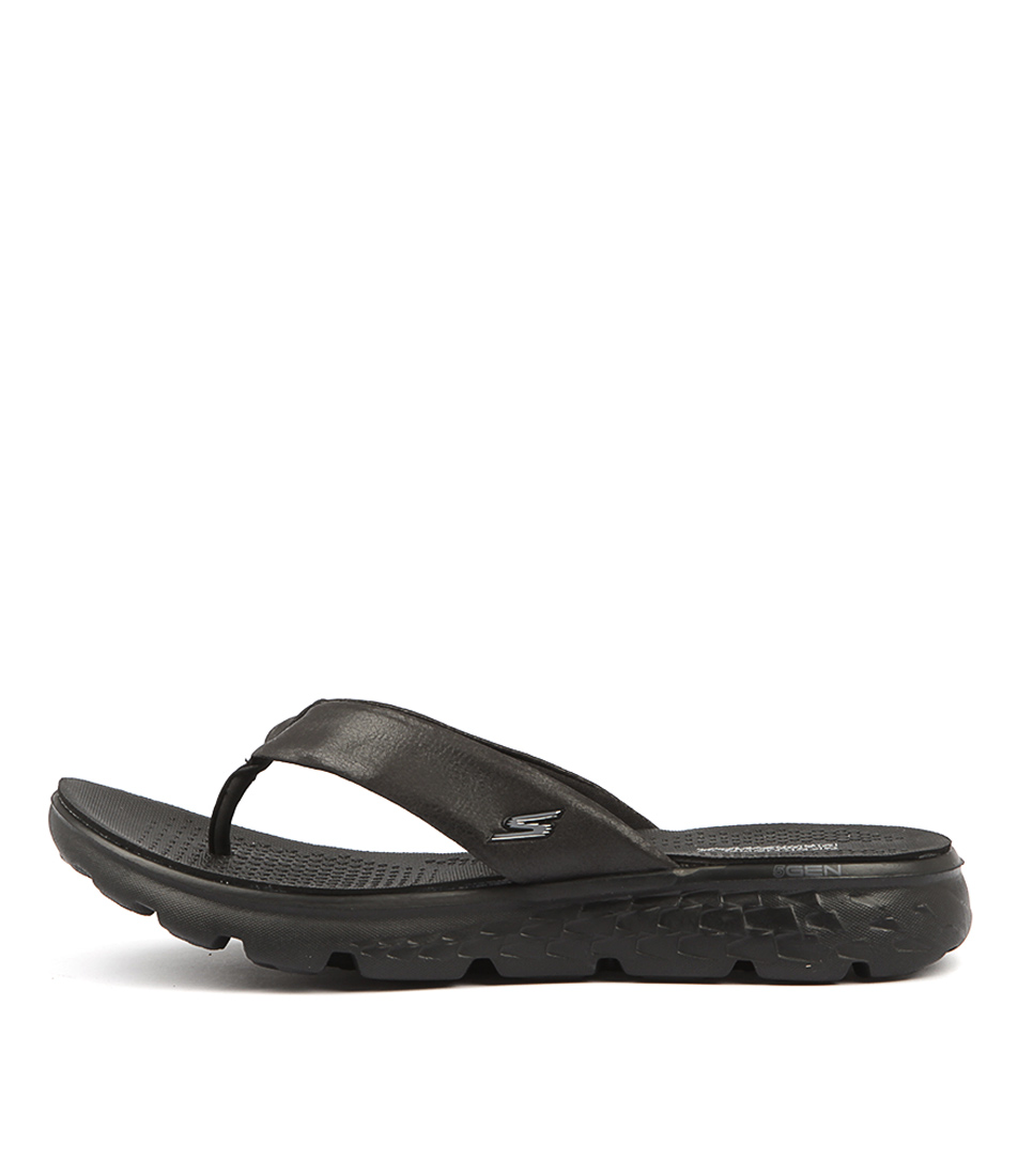 Skechers 14658 On The Go Essence Black Sandals Womens Shoes Active Sandals