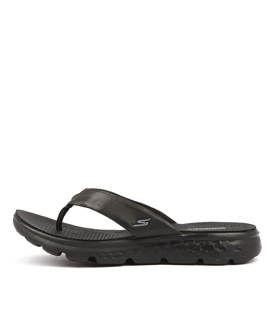 Buy Skechers 14658 On The Go Essence Black Sandals Flat Sandals online with free shipping