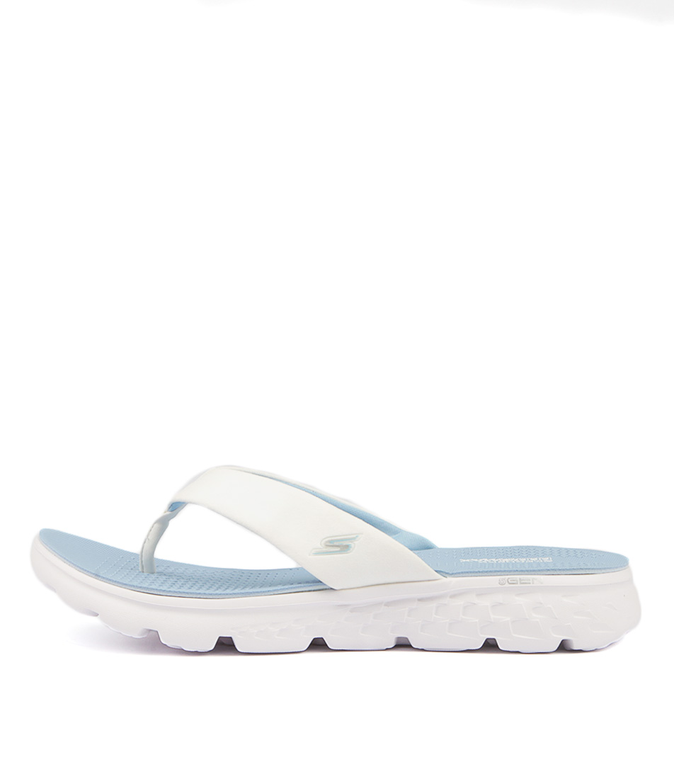 Skechers 14658 On The Go Essence White Light Blu Sandals Womens Shoes Active Sandals