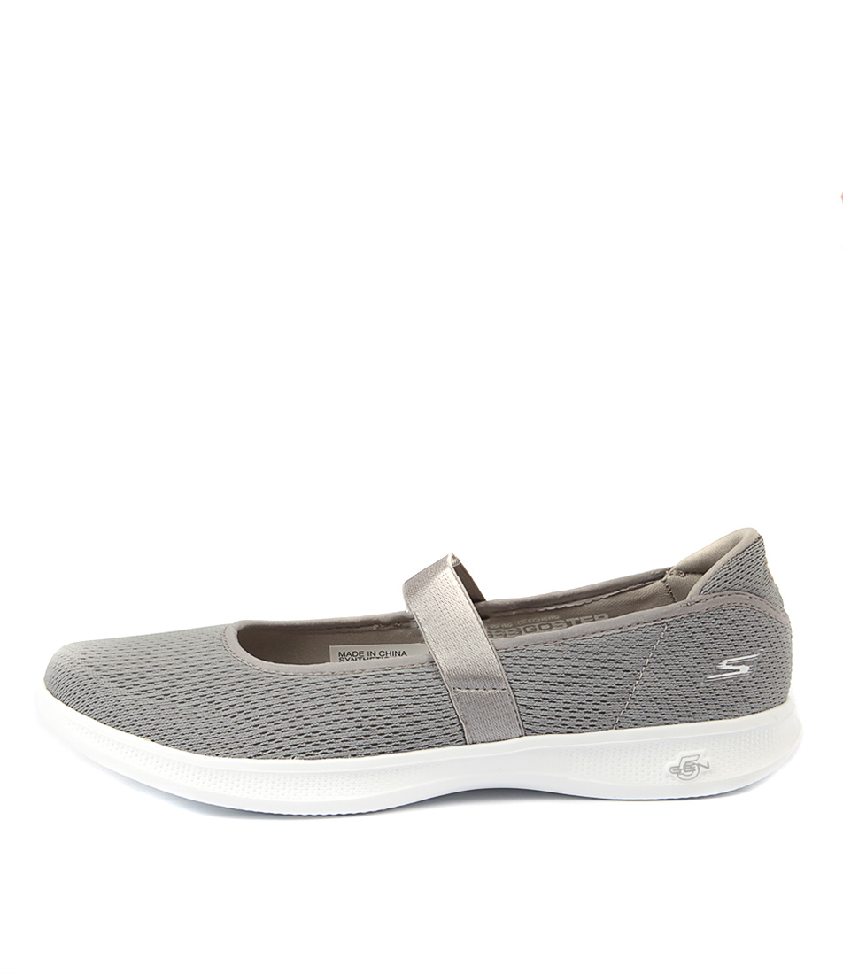 Skechers 14482 Go Step Lite Blooming Grey Active Flat Shoes