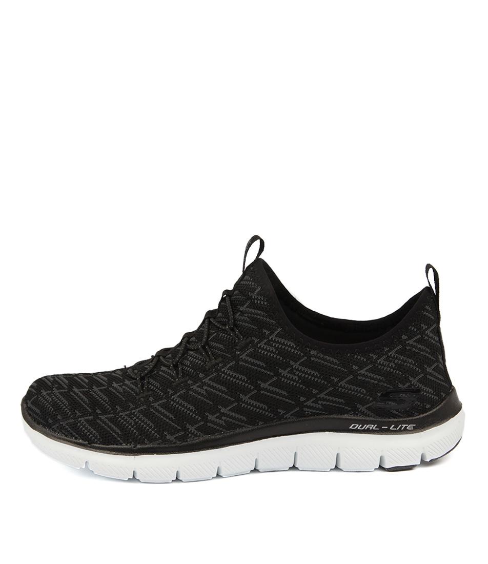 Skechers 12765 Flex Appeal Insights Black Charcoal Sneakers