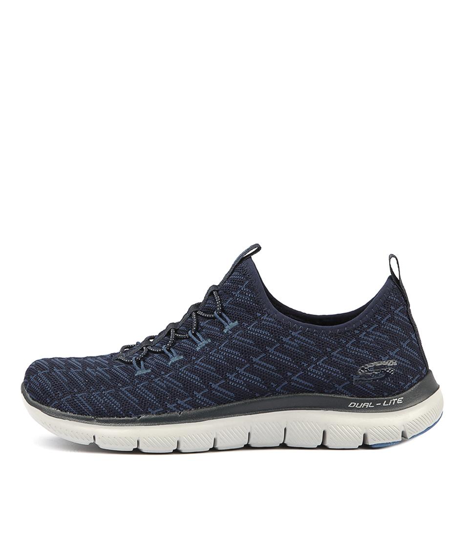 Skechers 12765 Flex Appeal Insights Navy Blue Sneakers