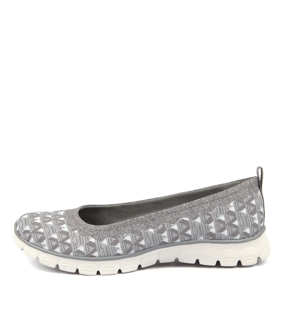 Skechers 23425 Ez Flex Wild N'free Grey Active Flat Shoes