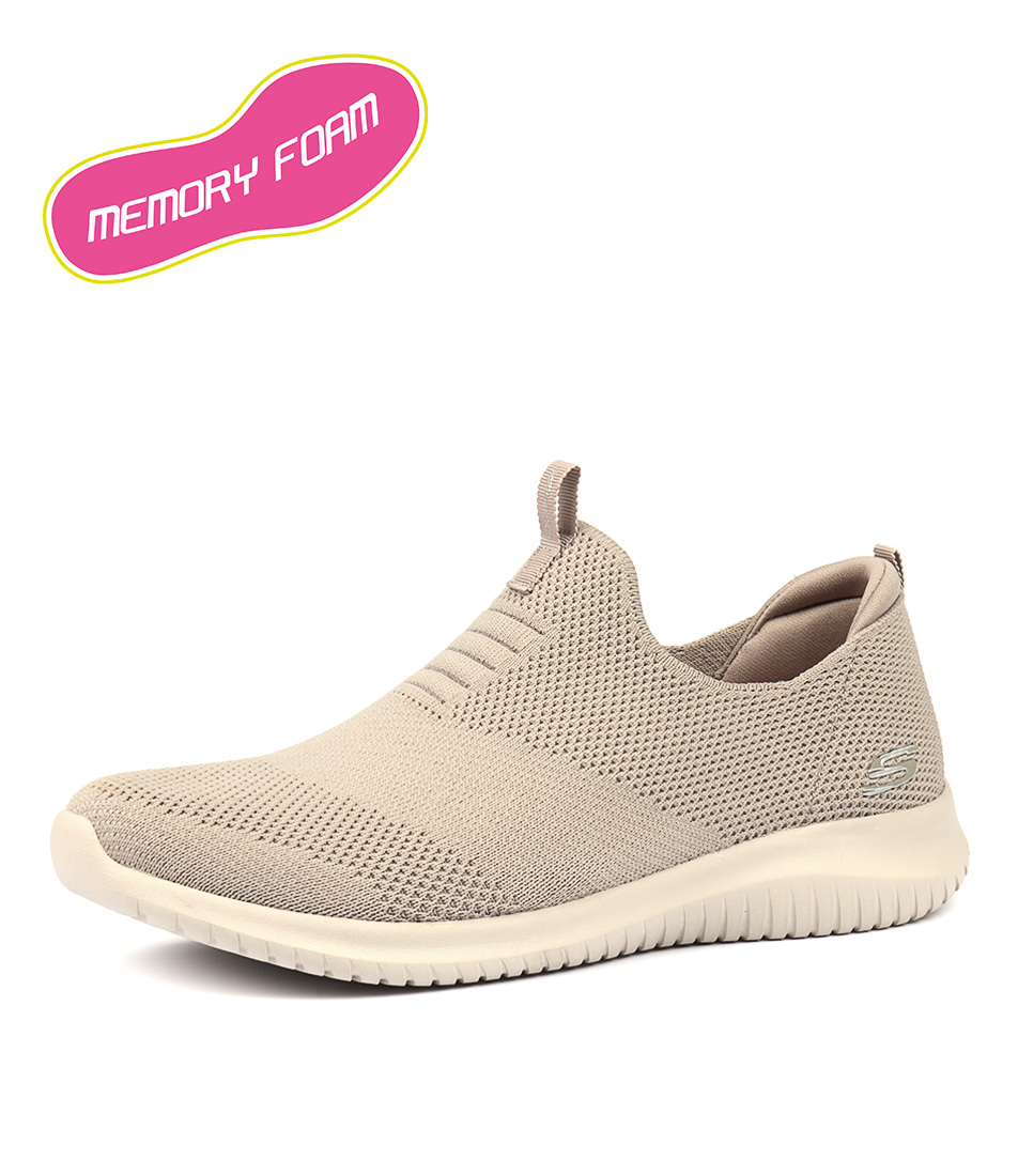 6a980b9676c5 New Skechers 12837 Ultra Flex F Bk Wh Womens Shoes Casual Sneakers ...