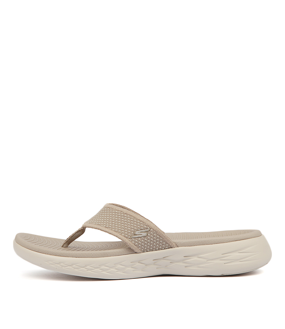 Buy Skechers 15300 On The Go 600 Taupe Flat Sandals online with free shipping