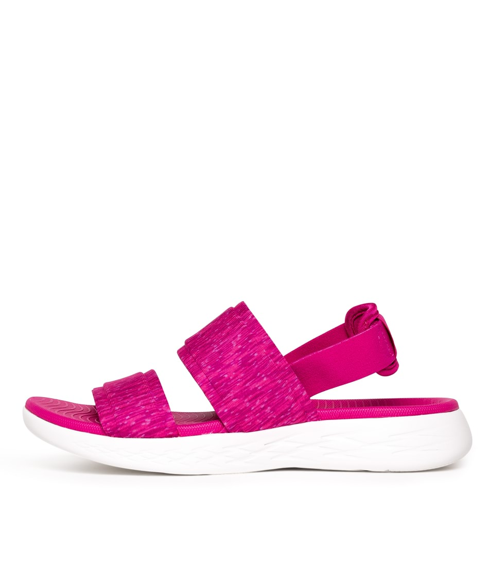Buy Skechers On The Go 600 Foxy Fuchsia Flat Sandals online with free shipping