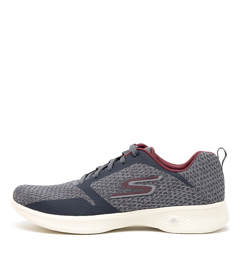 Buy Skechers 14943 Go Walk 4 Desire Charcoal Sneakers online with free shipping