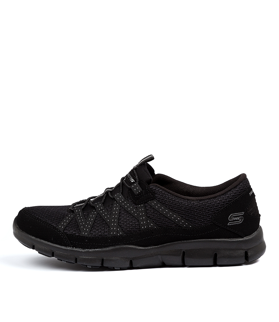Buy Skechers 22823 Gratis Strolling Black Sneakers online with free shipping