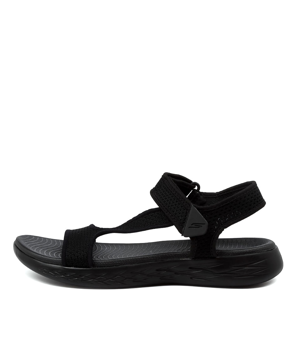 Buy Skechers 16176 On The Go 600 Rbx Black Flat Sandals online with free shipping