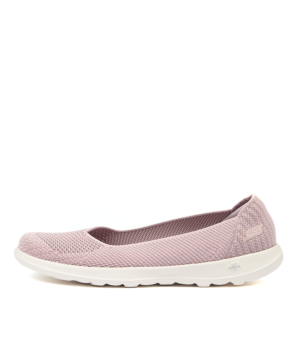 Buy Skechers 15389 Go Walk Lite Moon Lilac Active Flats online with free shipping