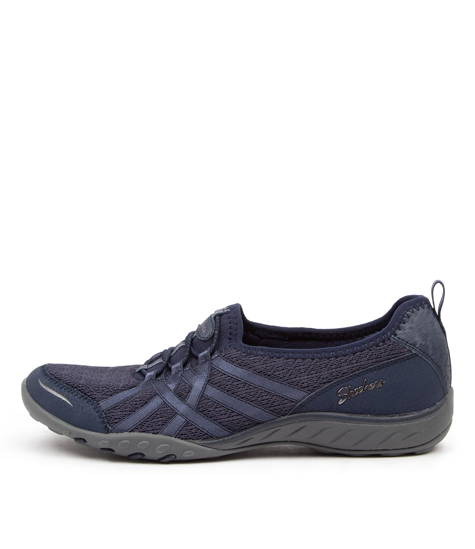 Buy Skechers 23826 Breath Easy Envy Navy Sneakers online with free shipping