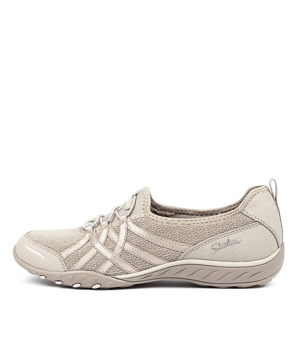 Buy Skechers 23826 Breath Easy Envy Taupe Sneakers online with free shipping