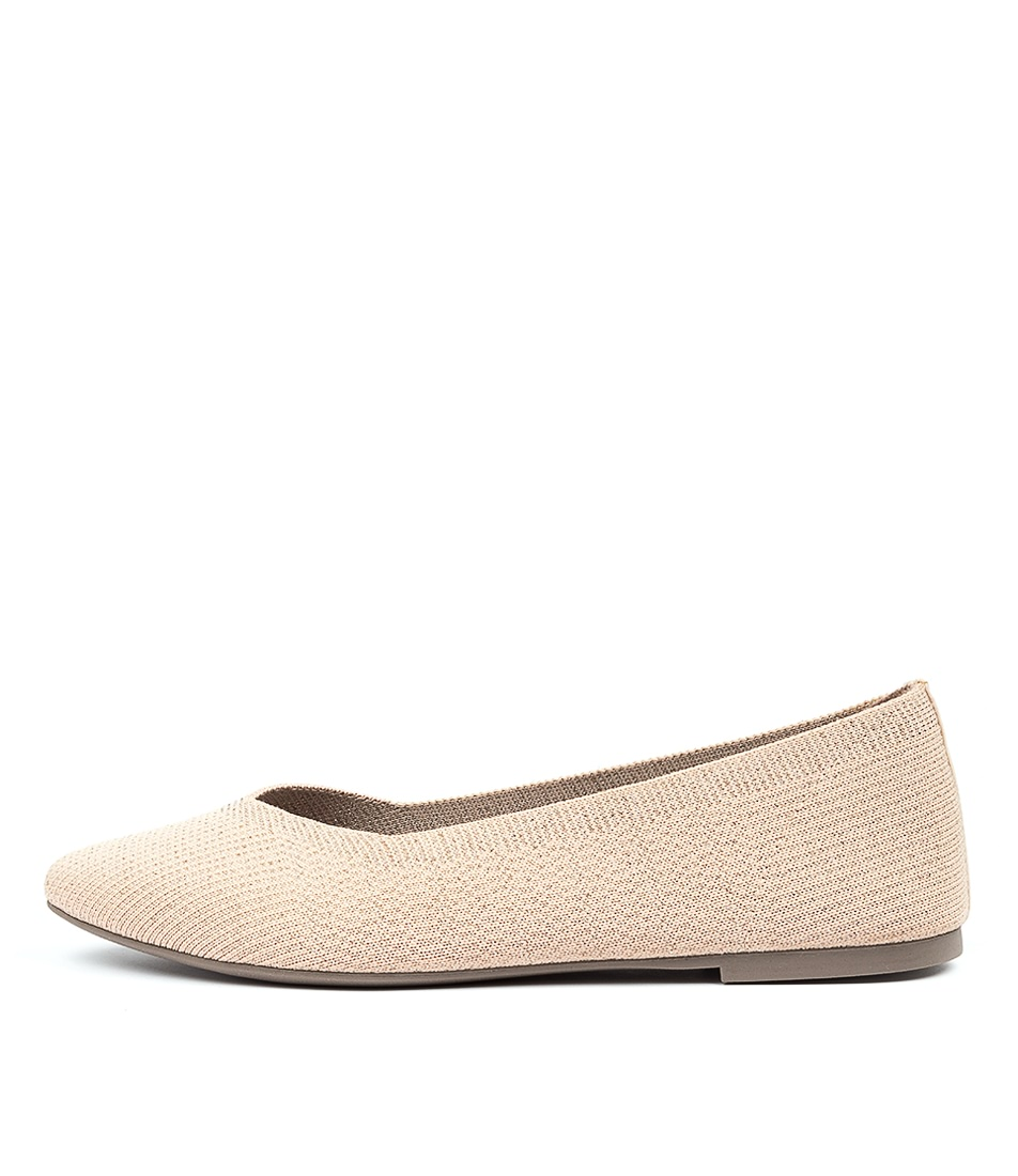 Buy Skechers 44878 Cleo Skokie Natural Flats online with free shipping