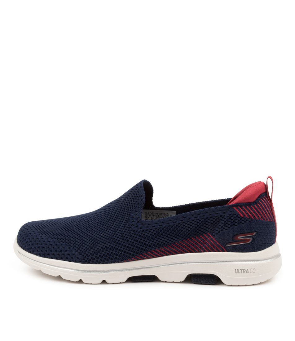 Buy Skechers 15900 Go Walk 5 Prized Navy Red Sneakers online with free shipping