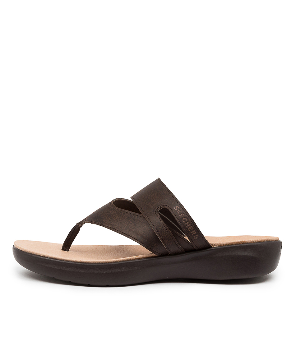 Buy Skechers 16276 On The Go Luxe Sk Chocolate Flat Sandals online with free shipping