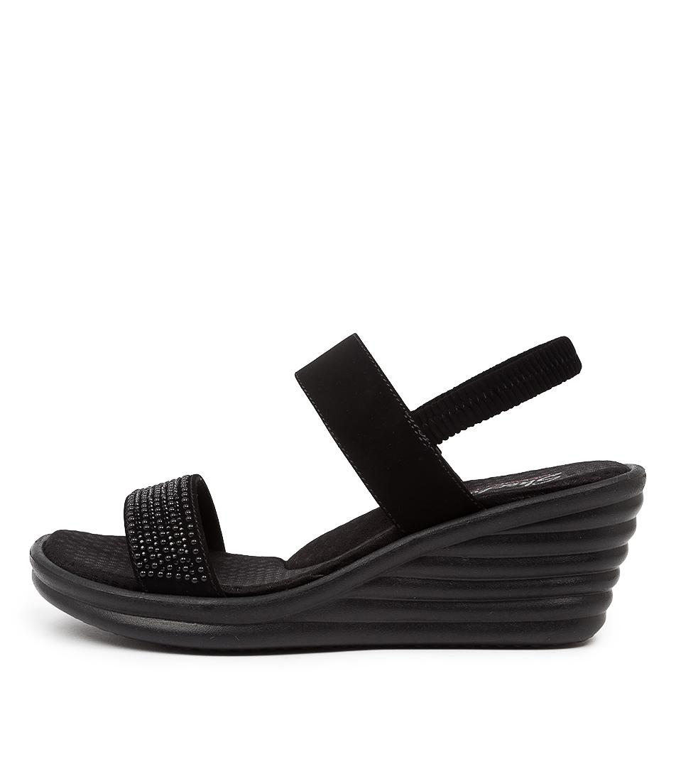 Buy Skechers 31779 Rumbler Wave Sk Black Heeled Sandals online with free shipping