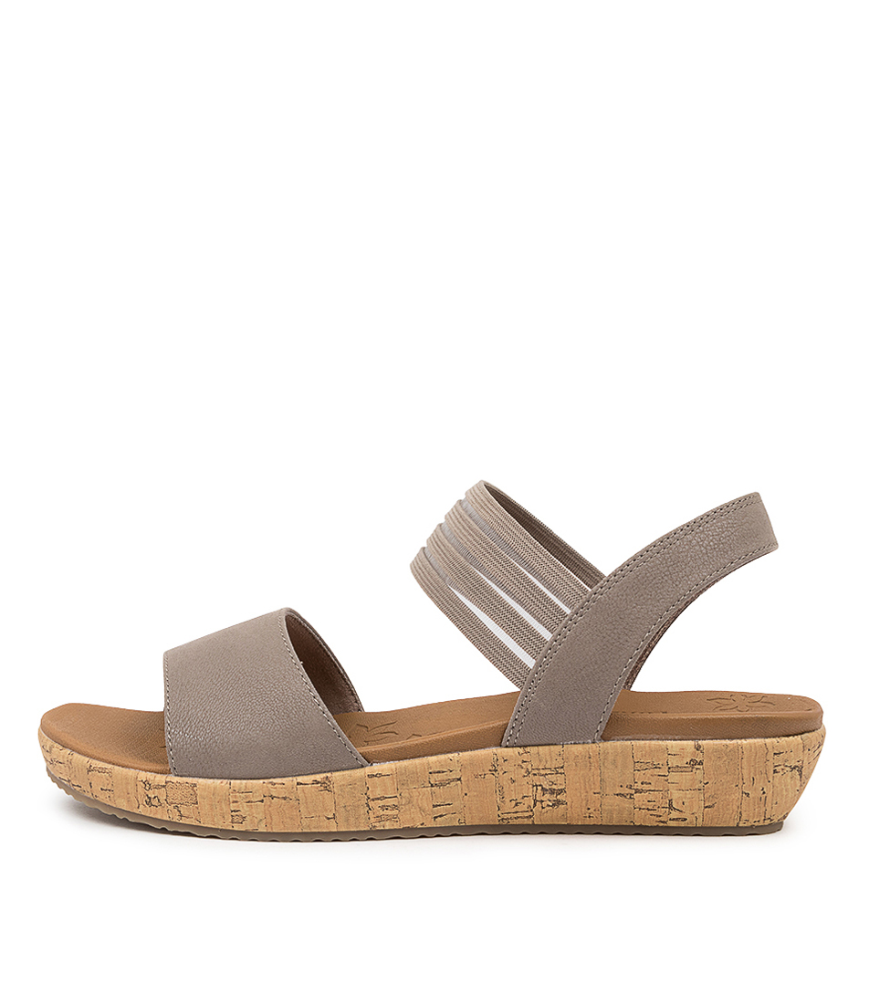 Buy Skechers 32825 Brie Lo'profile Sk Taupe Heeled Sandals online with free shipping