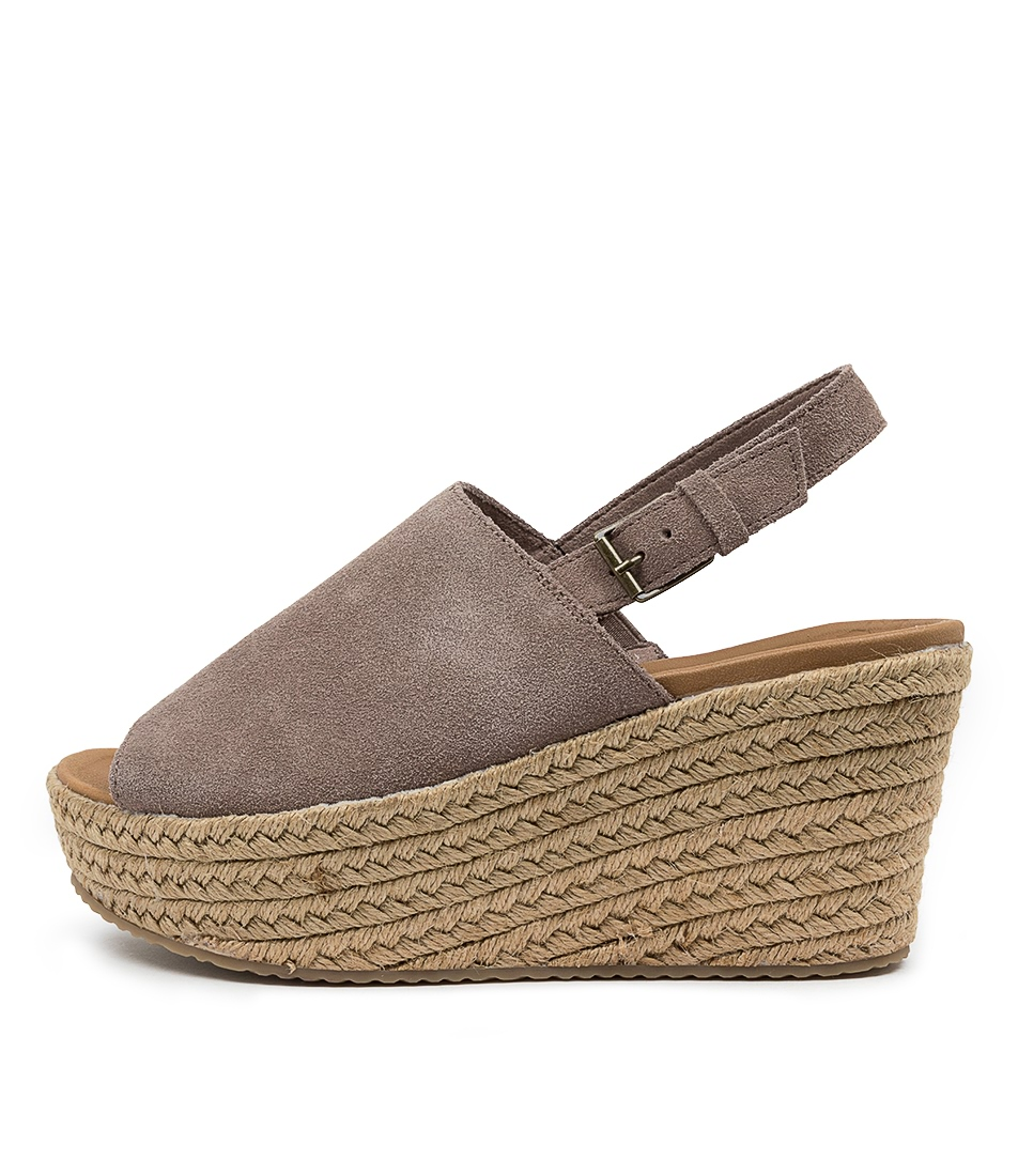 Buy Skechers 32980 Brit Spring Shot Sk Taupe Heeled Sandals online with free shipping