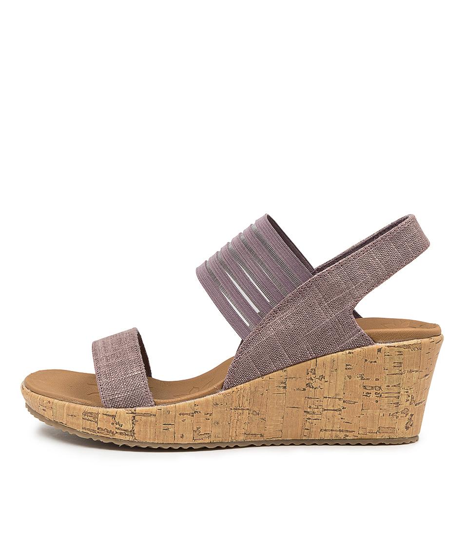 Buy Skechers 38527 Beverlee Smitten Sk Mauve Heeled Sandals online with free shipping