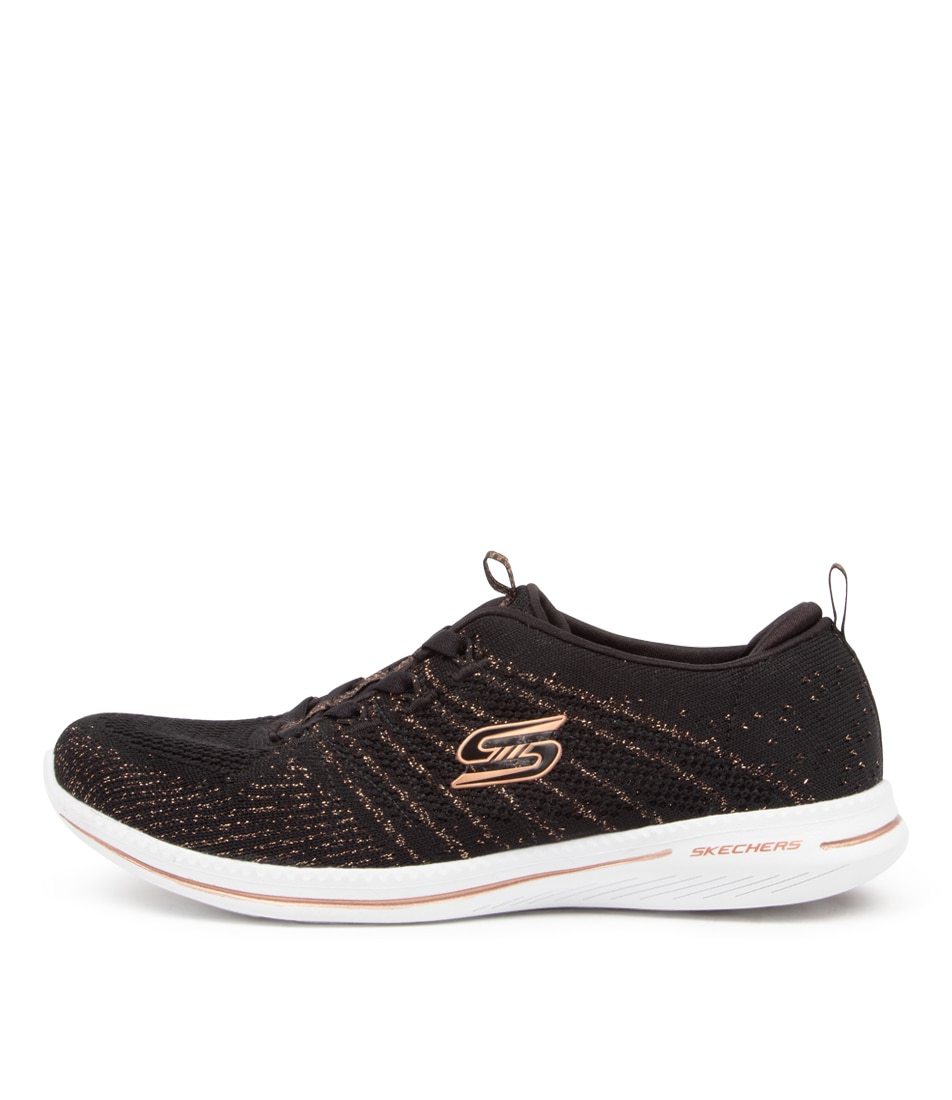 Buy Skechers 104015 City Pro Glow On Sk Black Rose Gold Sneakers online with free shipping