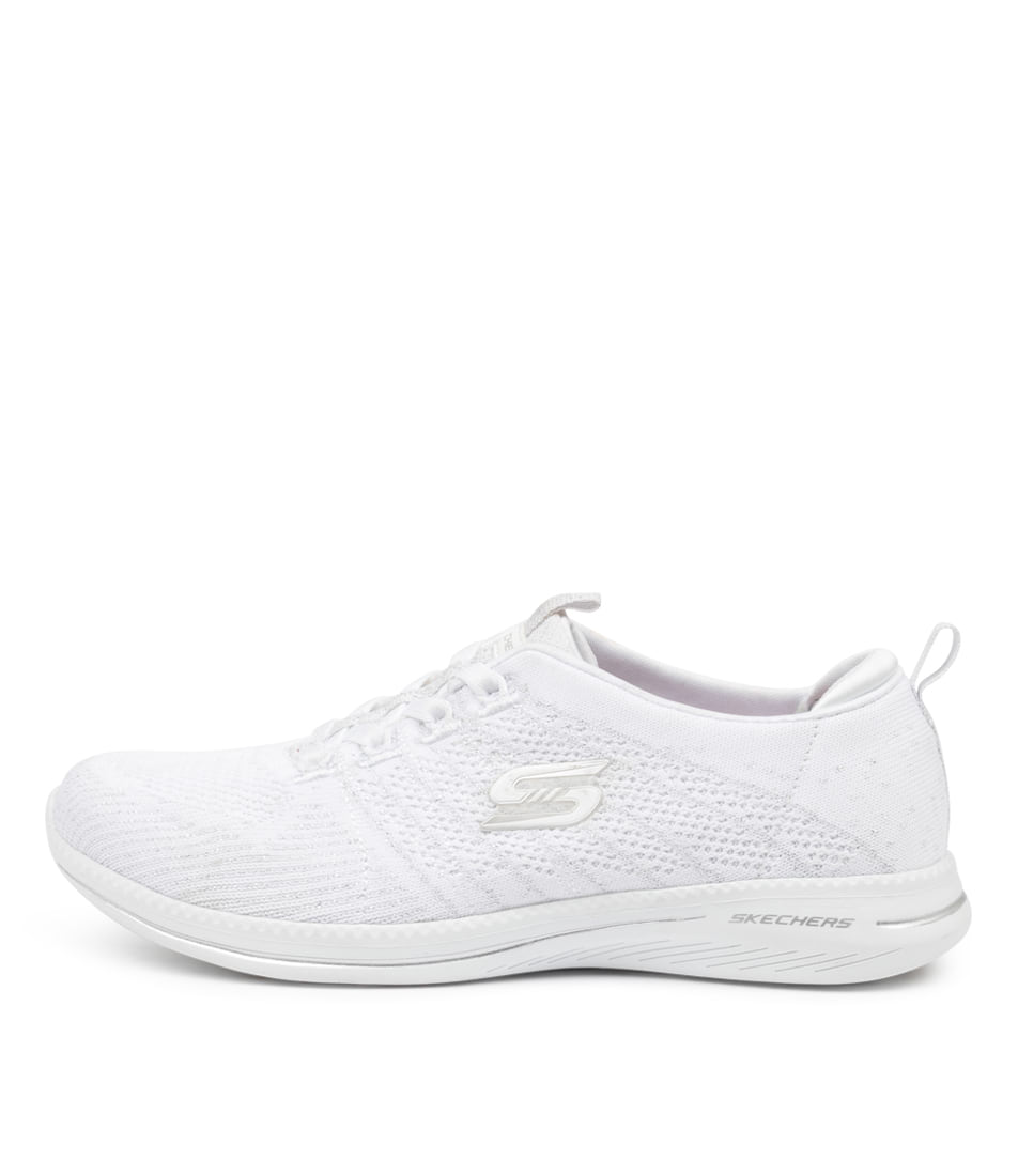 Buy Skechers 104015 City Pro Glow On Sk White Silver Sneakers online with free shipping