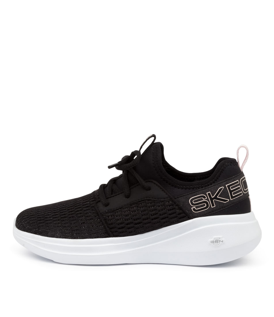 Buy Skechers 128012 Go Run Fast Glimmer Sk Black Mauve Sneakers online with free shipping